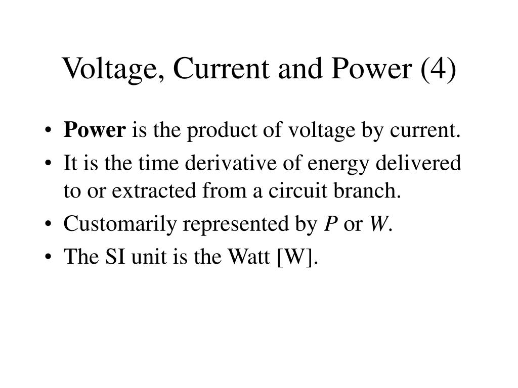 Voltage, Current and Power (4)