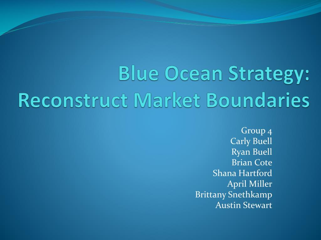 blue ocean strategy marketing Their book, blue ocean strategy: how to create uncontested market space and  make competition irrelevant, (harvard business review.