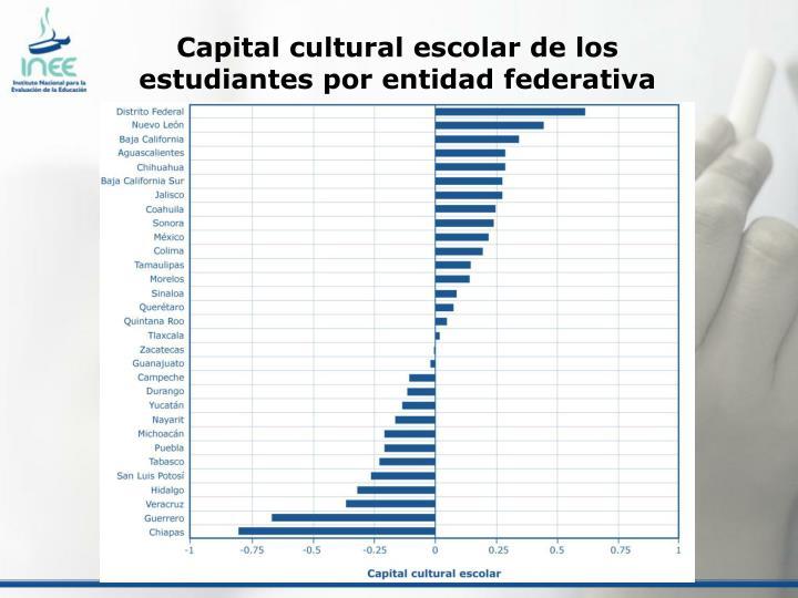 Capital cultural escolar de los