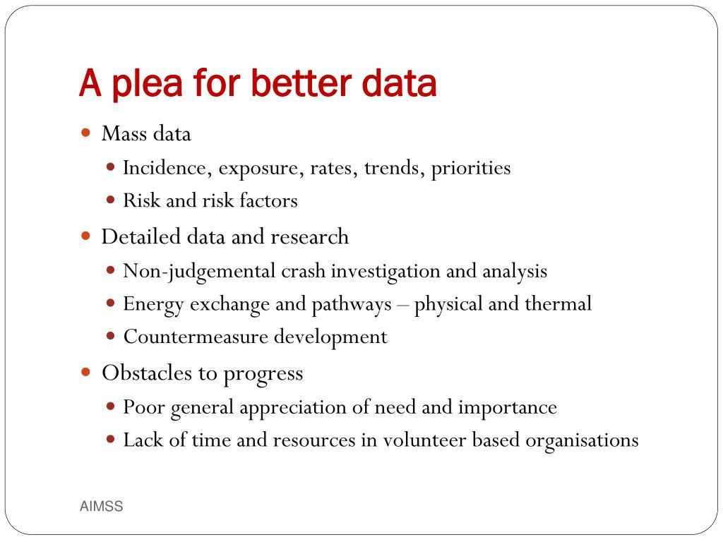 A plea for better data