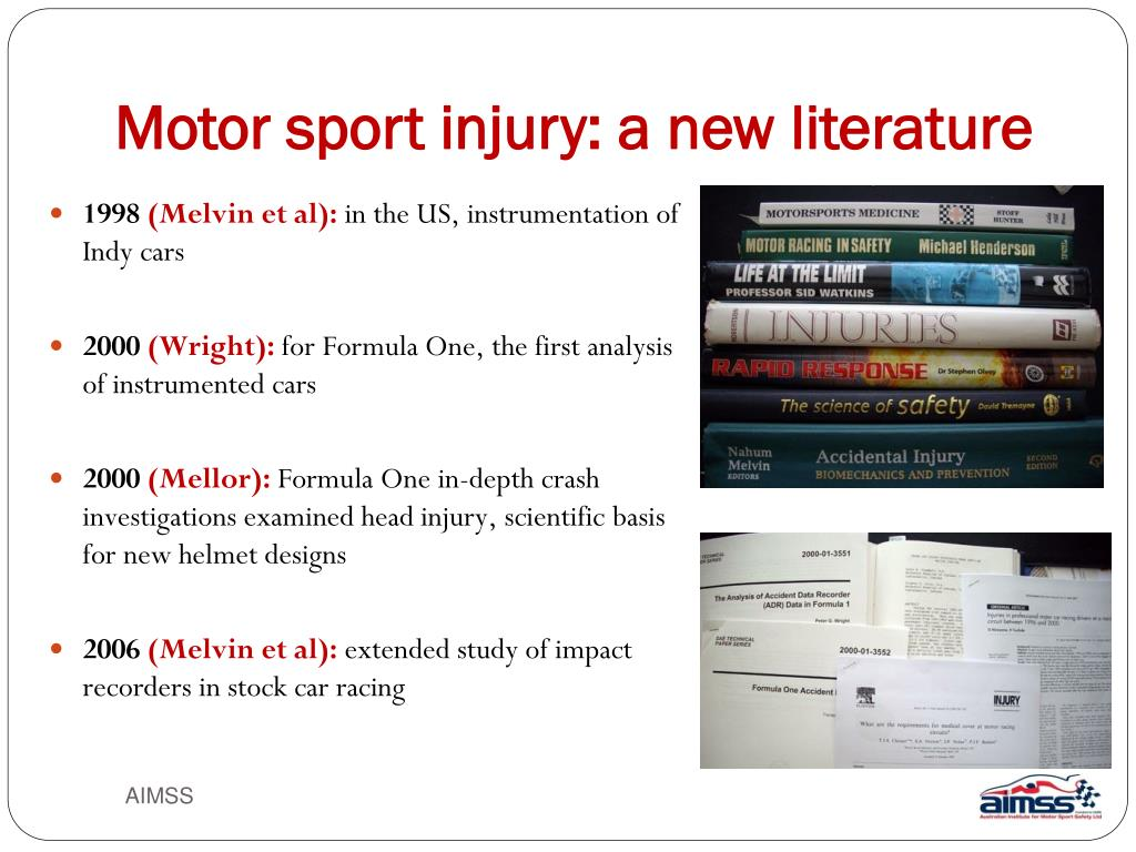 Motor sport injury: a new literature