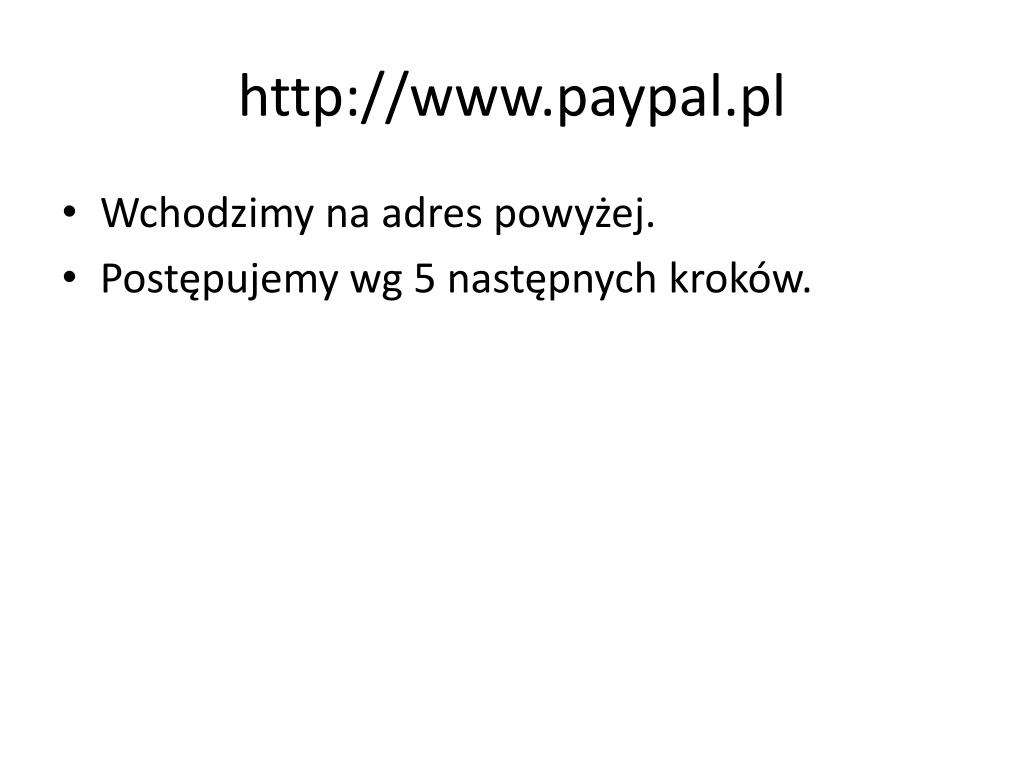 http://www.paypal.pl
