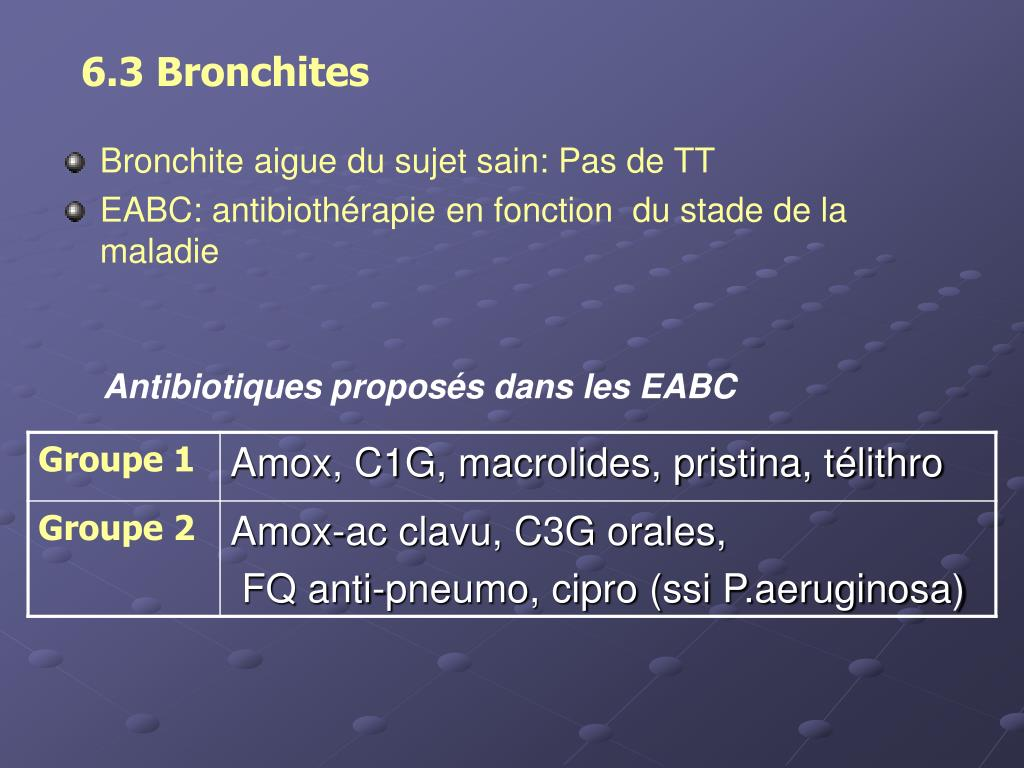 6.3 Bronchites
