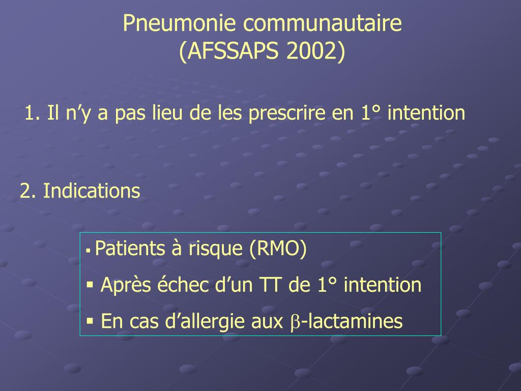 Pneumonie communautaire