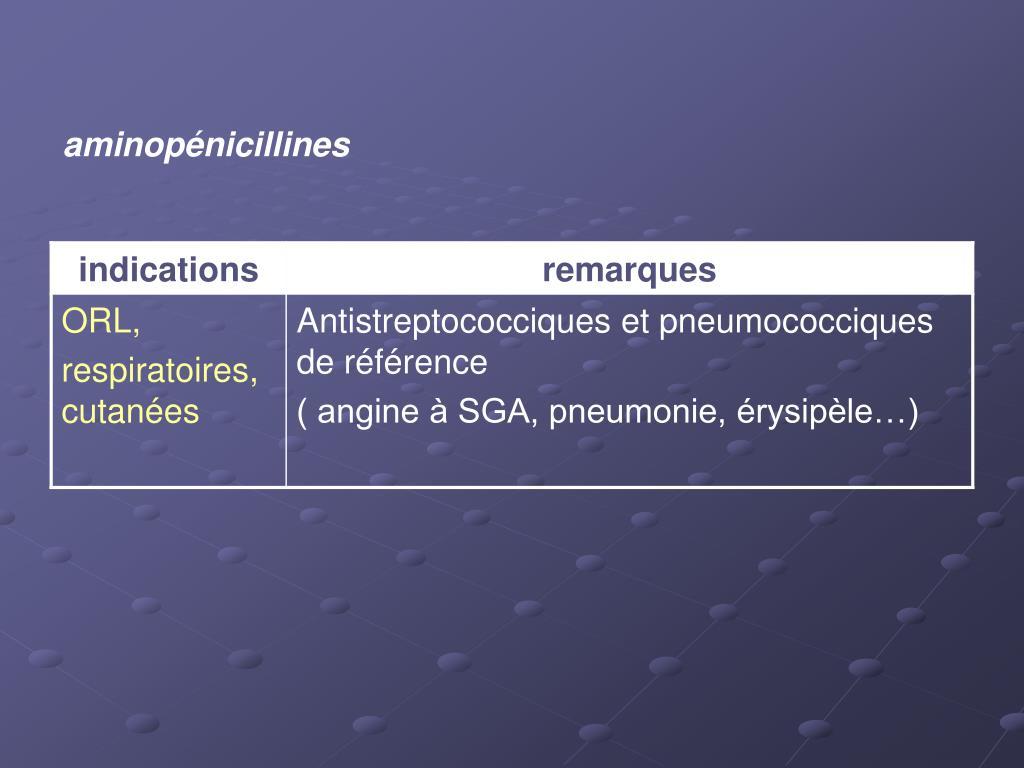 aminopénicillines