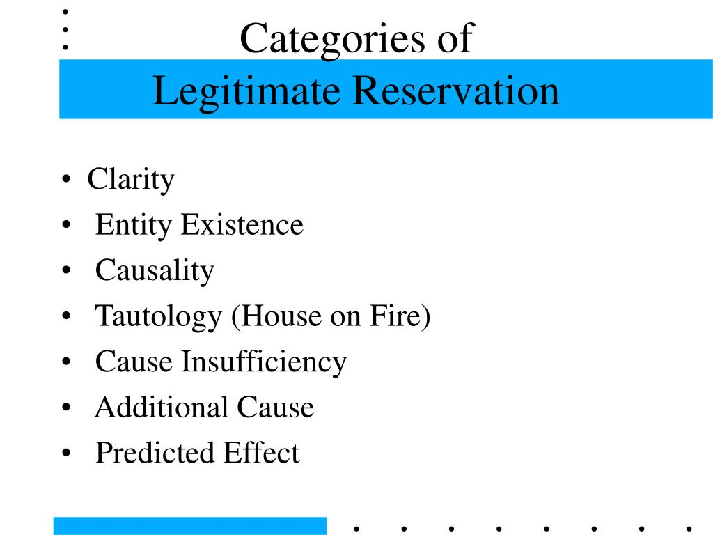 Categories of