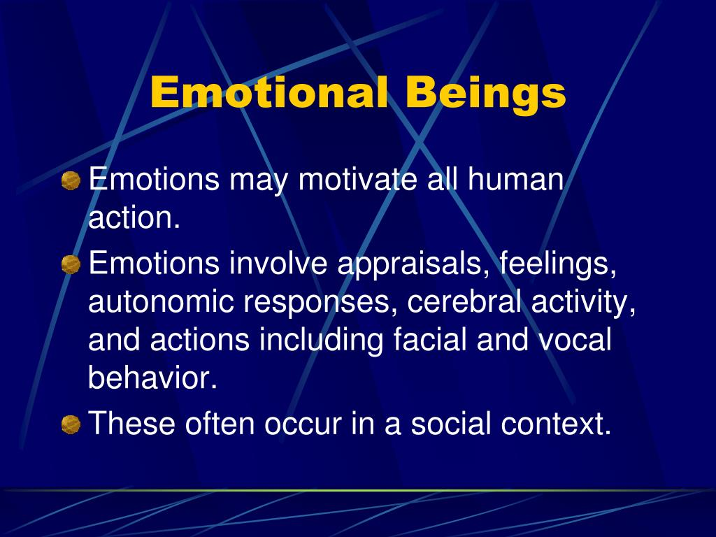 Emotional Beings