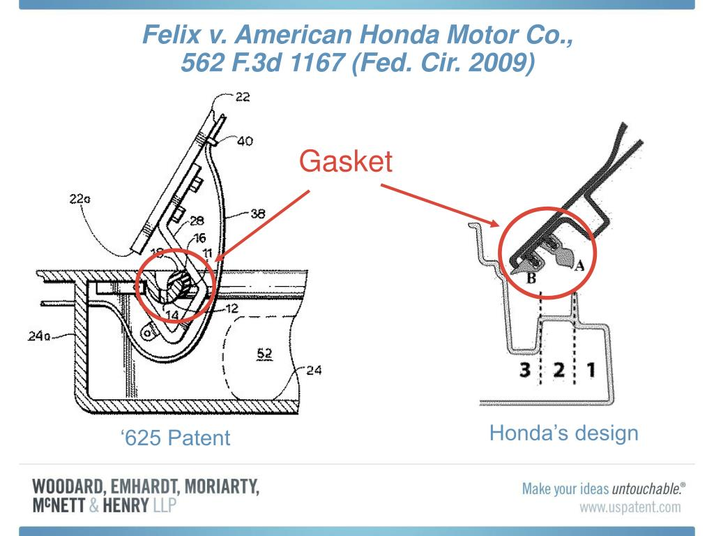 Ppt the year in patent litigation a review of recent u for American honda motor co