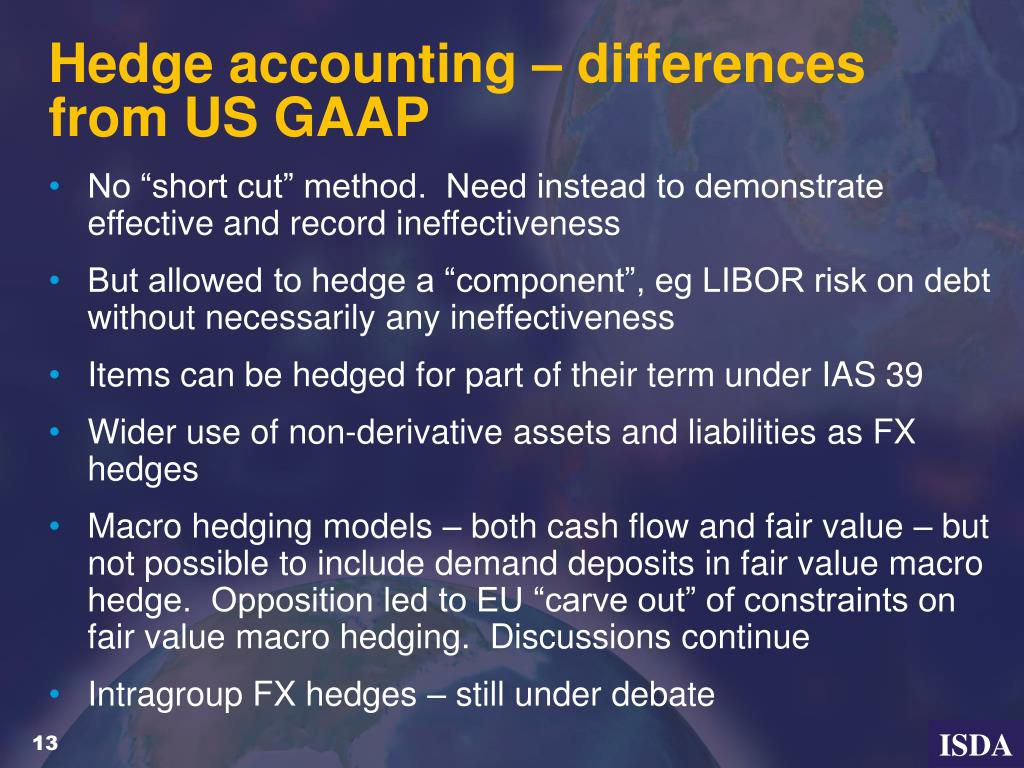 Hedge accounting – differences from US GAAP