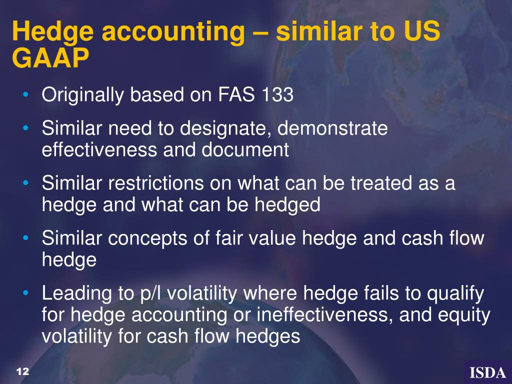Hedge accounting – similar to US GAAP