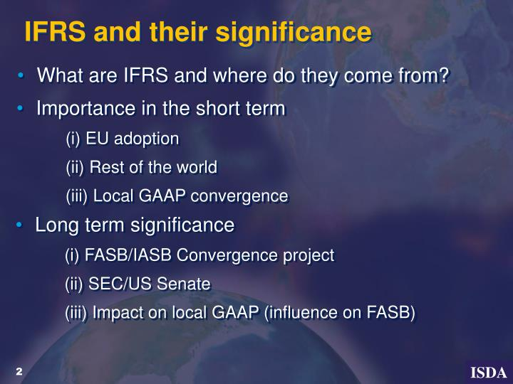 Ifrs and their significance