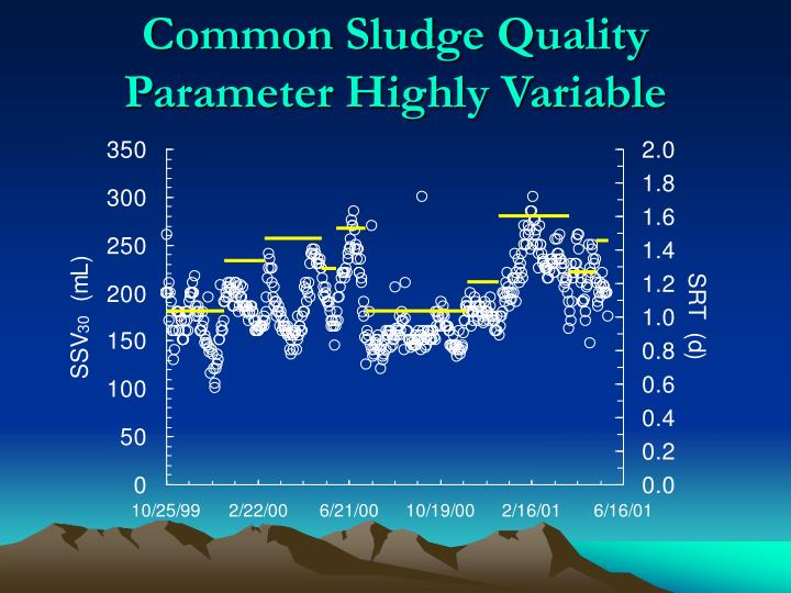 Common Sludge Quality Parameter Highly Variable