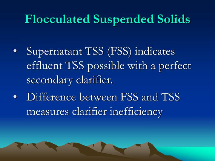 Flocculated Suspended Solids