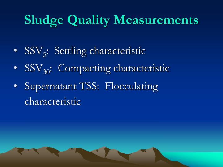Sludge Quality Measurements