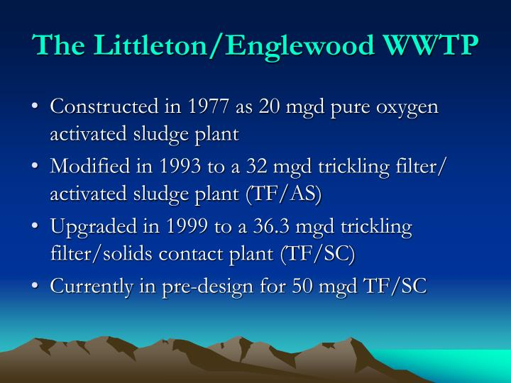 The Littleton/Englewood WWTP