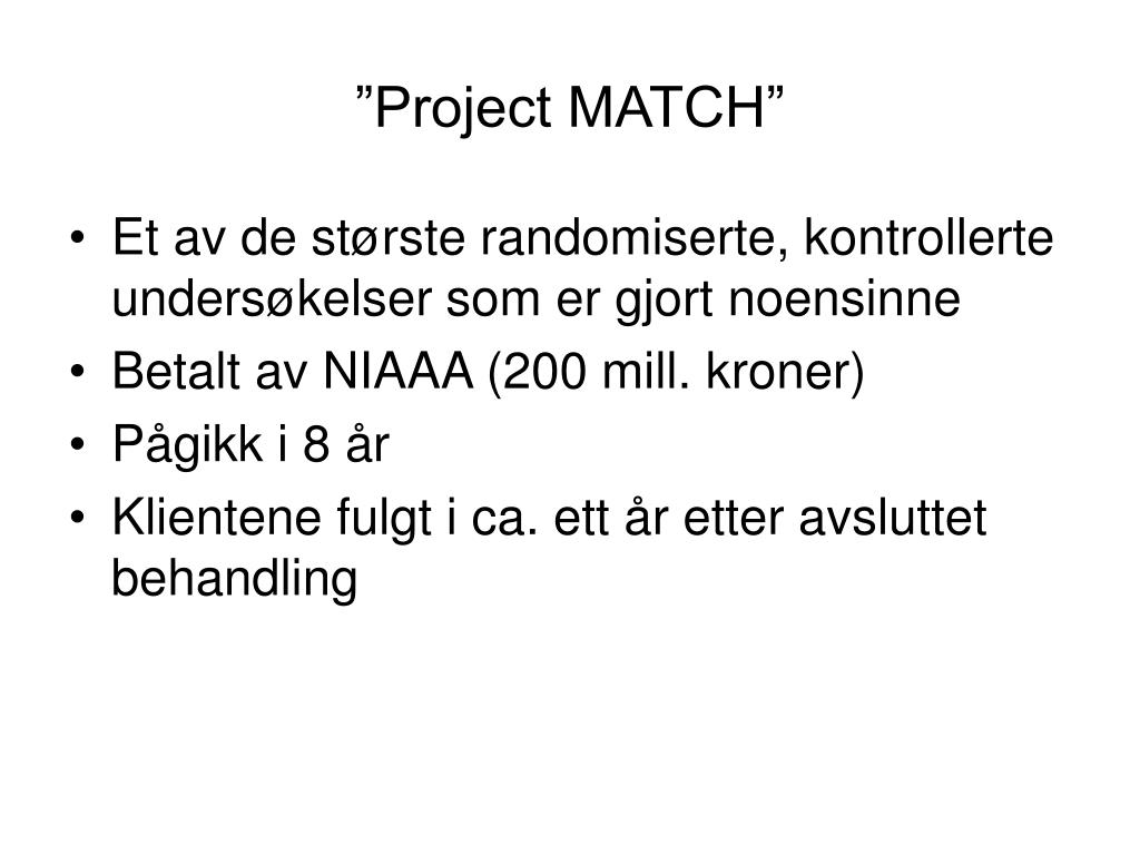 """Project MATCH"""