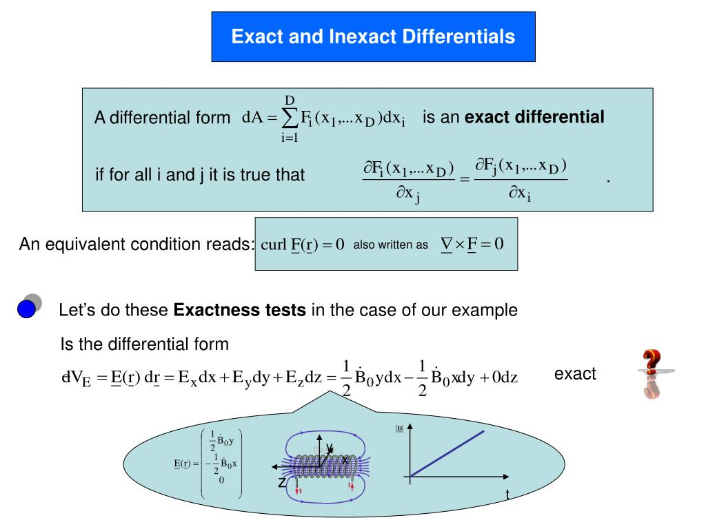 Exact and Inexact Differentials