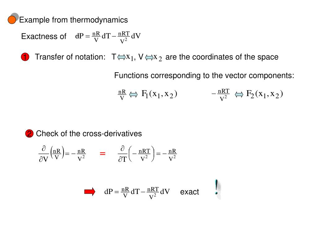 Example from thermodynamics
