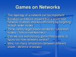 games on networks