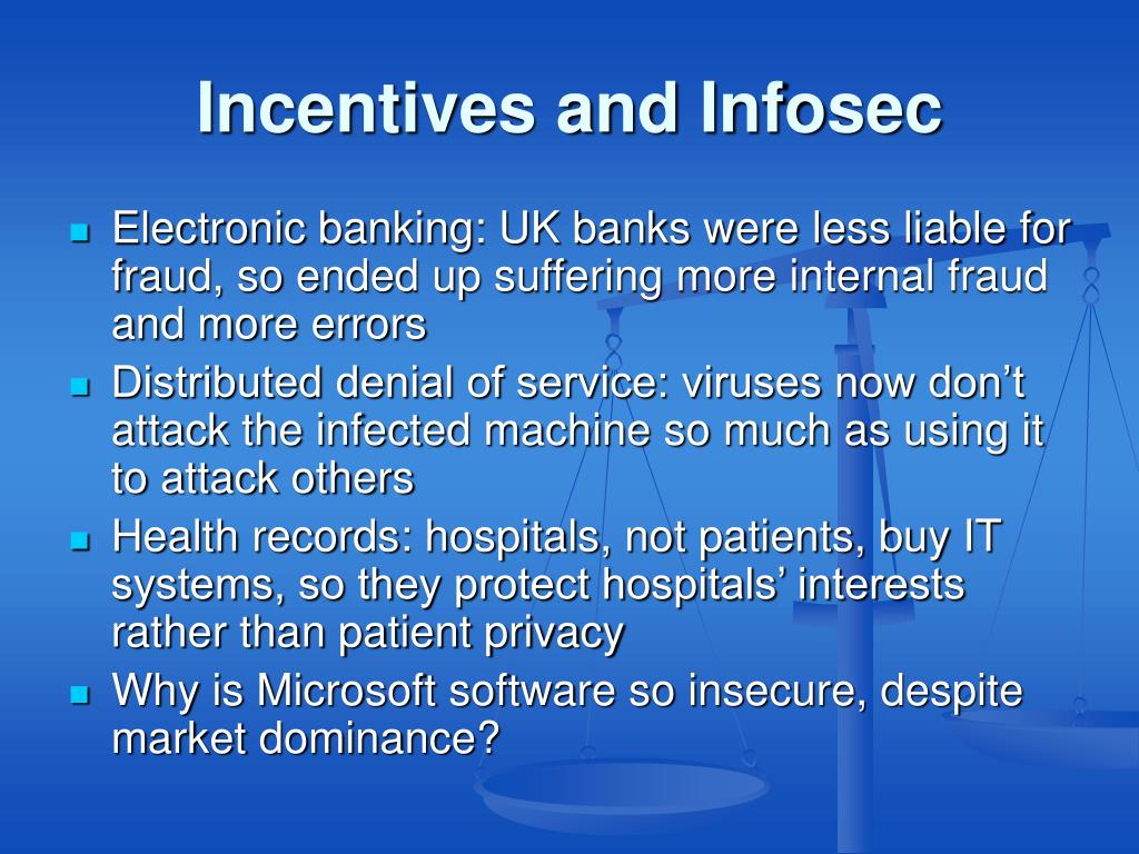 Incentives and Infosec