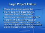 large project failure