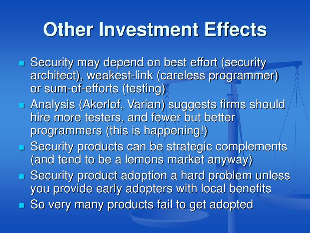 Other Investment Effects