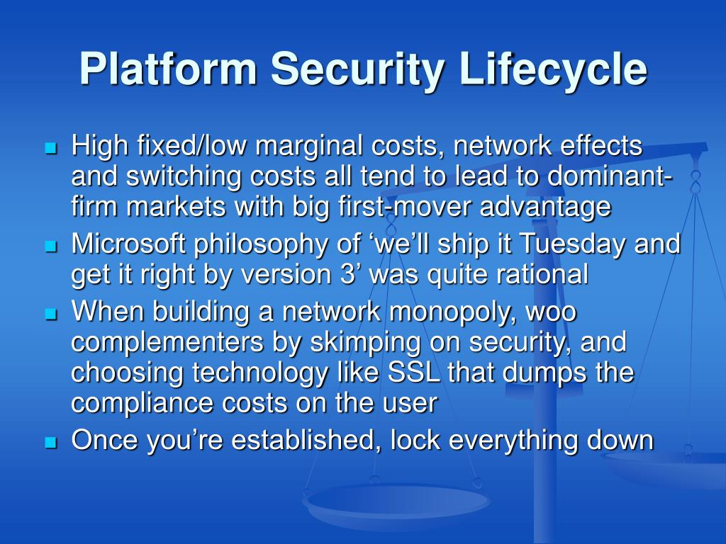 Platform Security Lifecycle