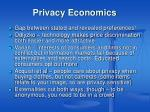 privacy economics