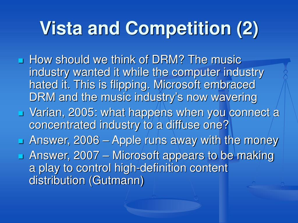 Vista and Competition (2)