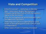 vista and competition