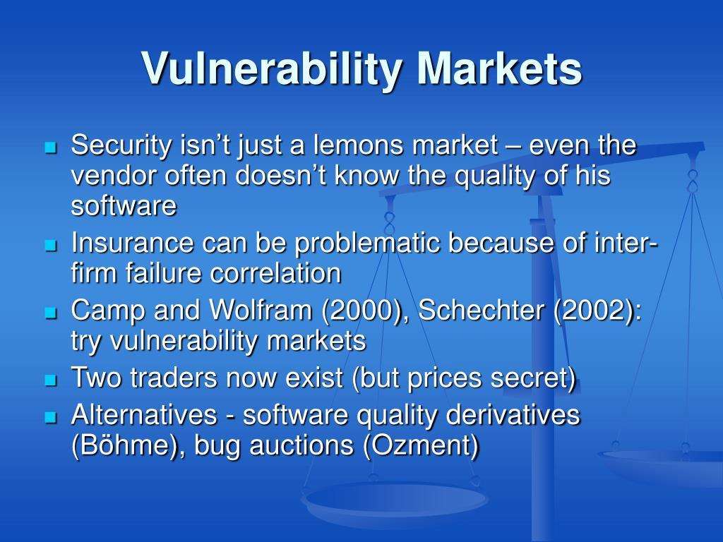 Vulnerability Markets
