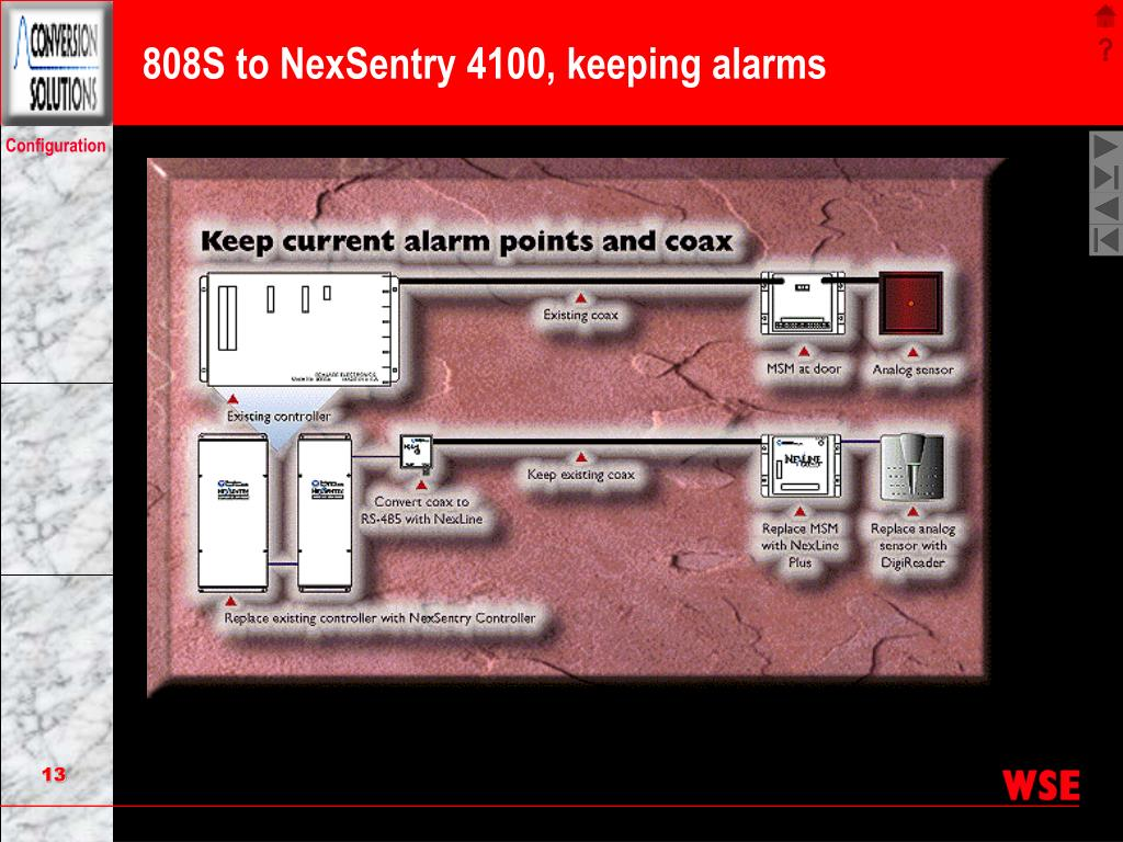 808S to NexSentry 4100, keeping alarms