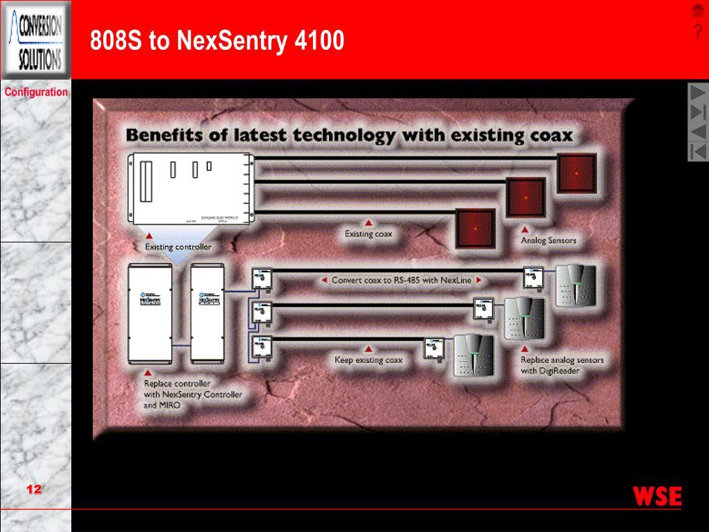 808S to NexSentry 4100