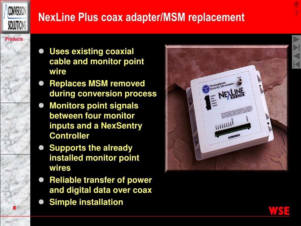 NexLine Plus coax adapter/MSM replacement