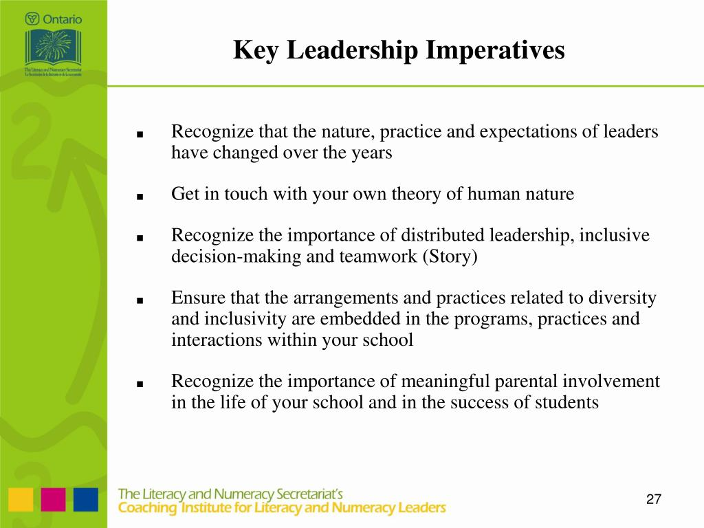 Key Leadership Imperatives