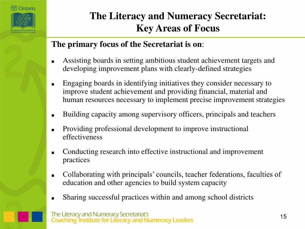 The Literacy and Numeracy Secretariat: