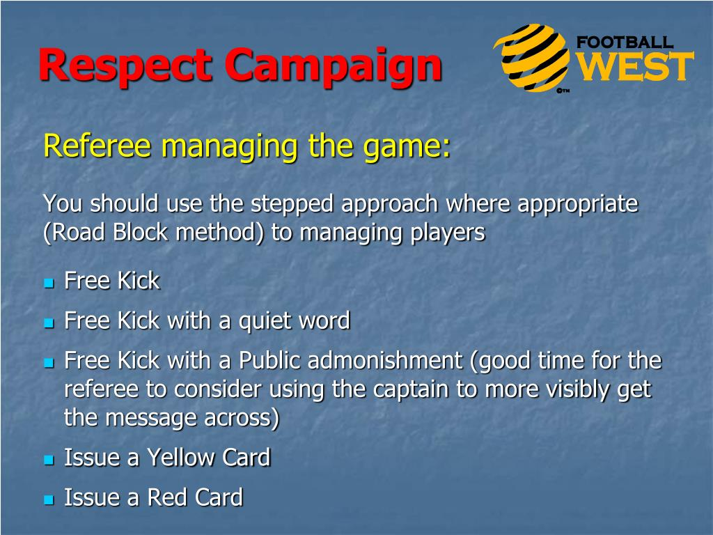Referee managing the game: