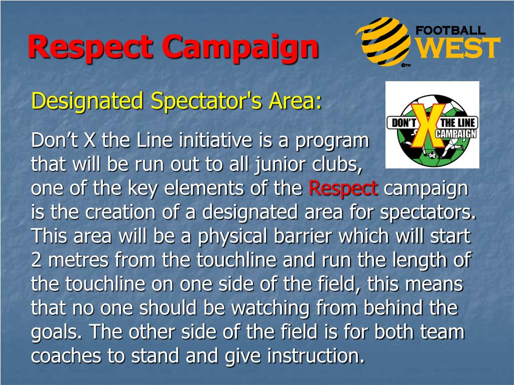 Designated Spectator's Area:
