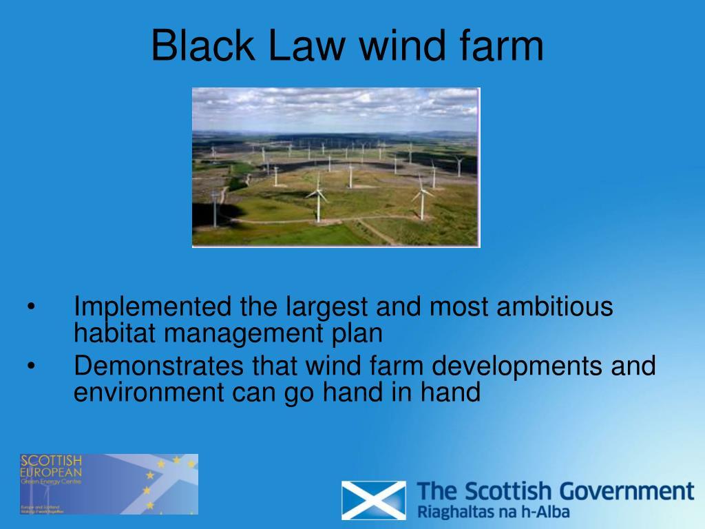 Black Law wind farm
