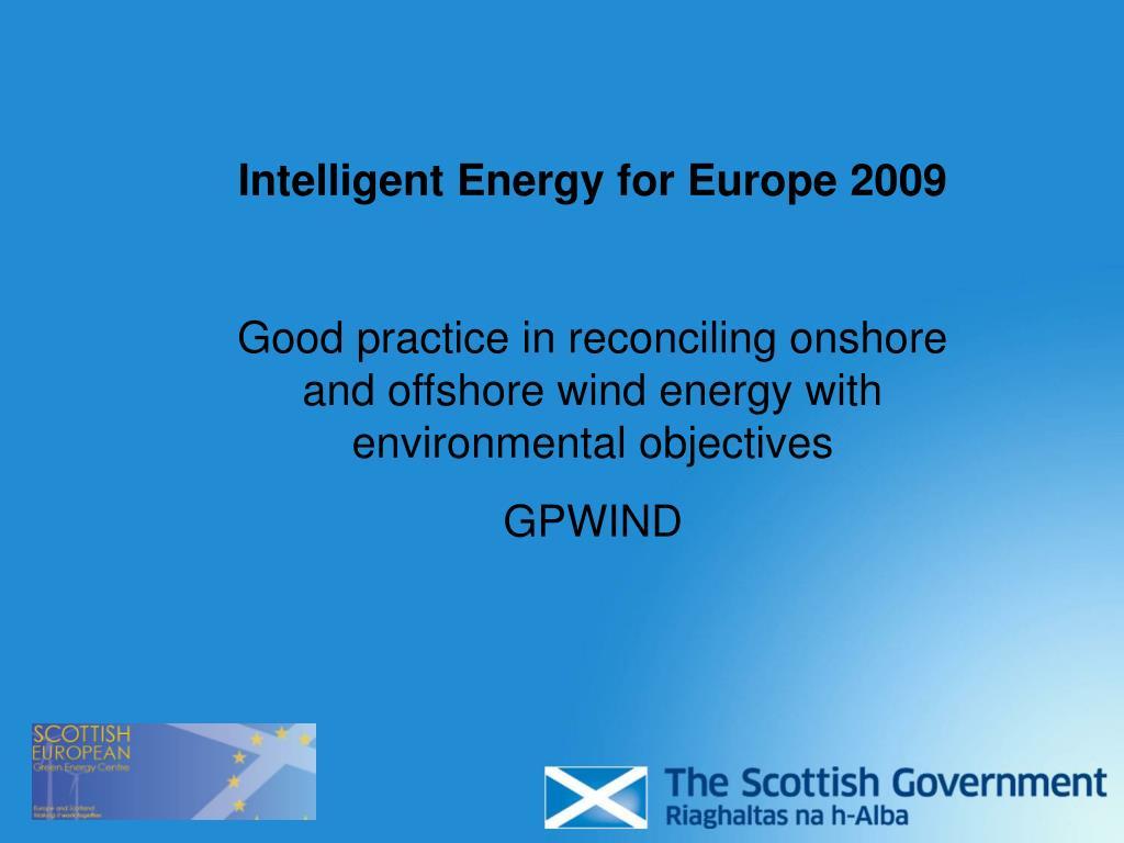 Intelligent Energy for Europe 2009