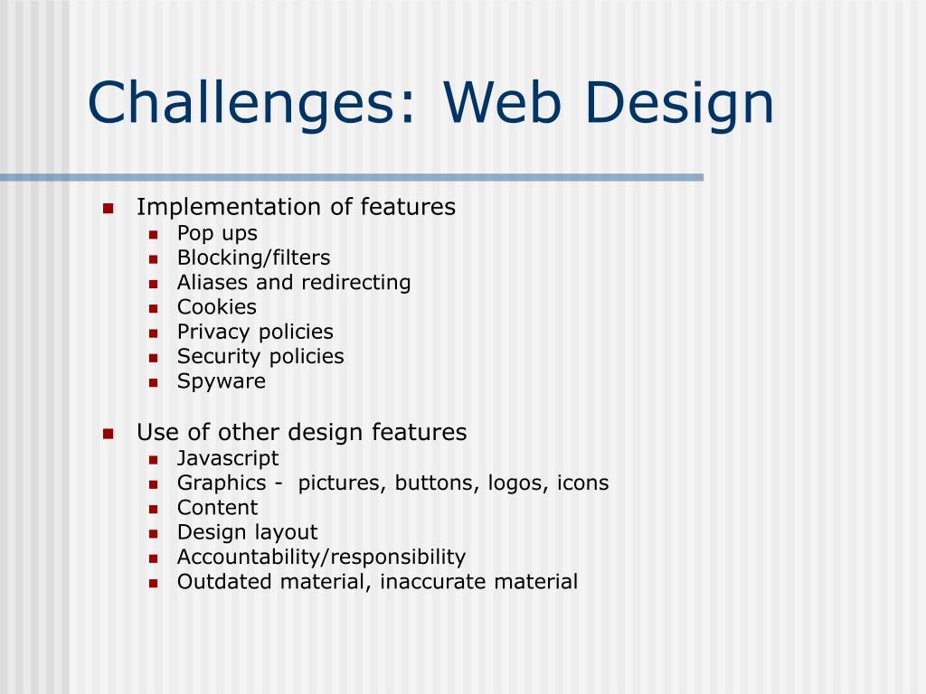 Challenges: Web Design