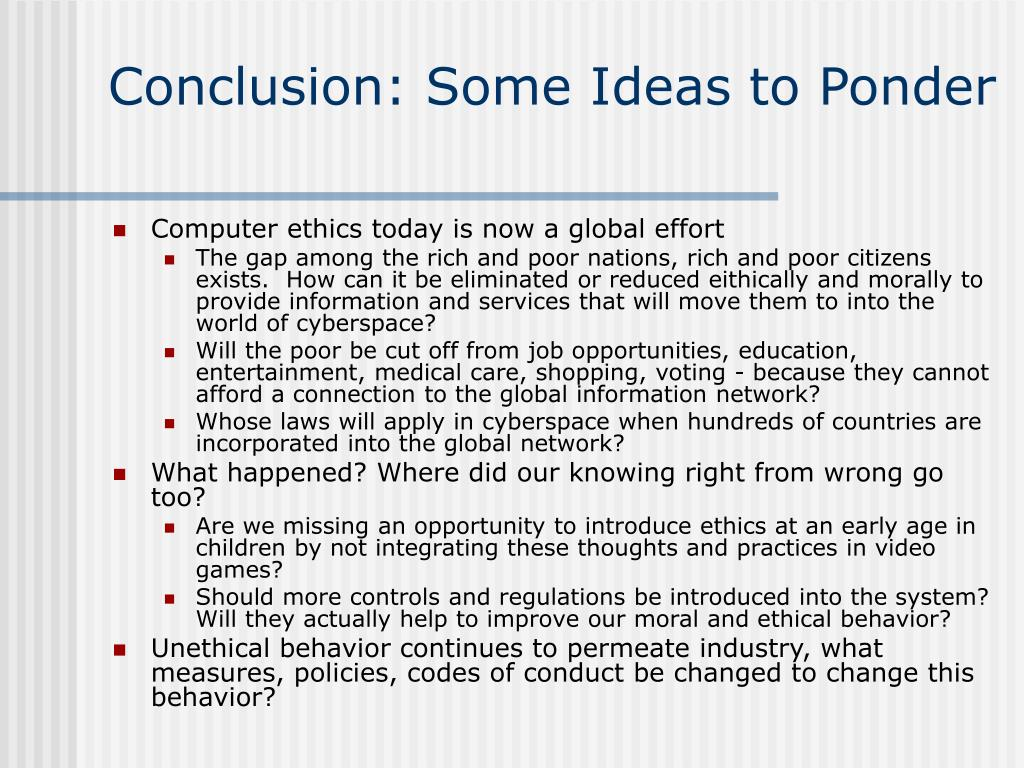 Conclusion: Some Ideas to Ponder