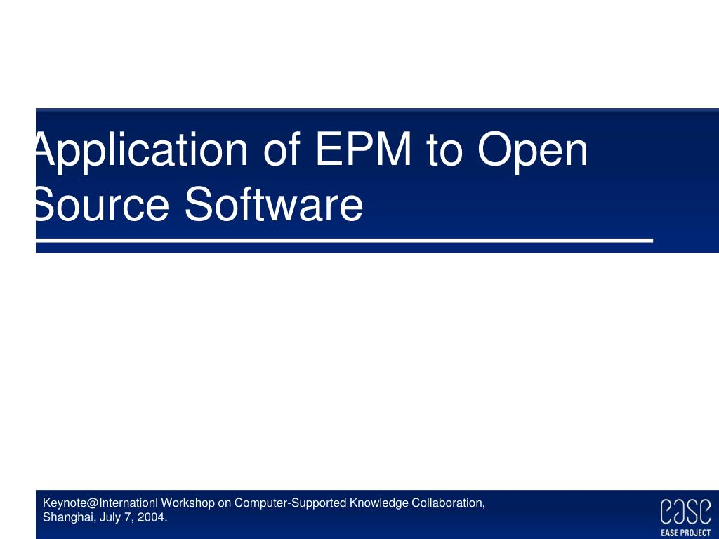 Application of EPM to Open Source Software
