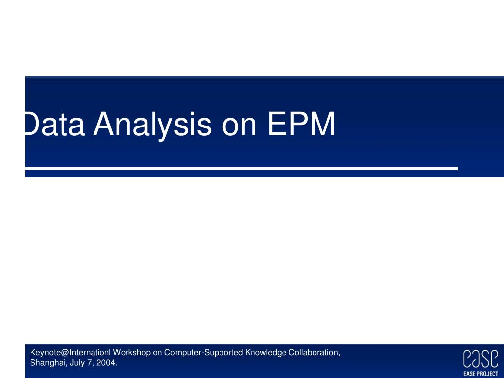 Data Analysis on EPM