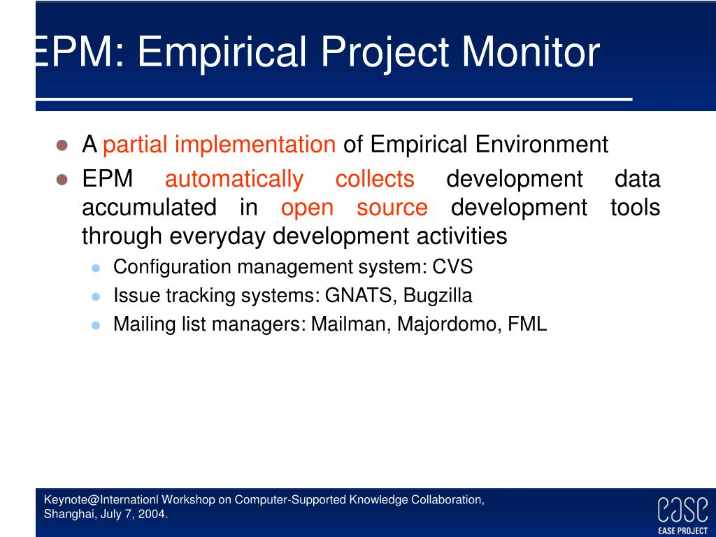 EPM: Empirical Project Monitor