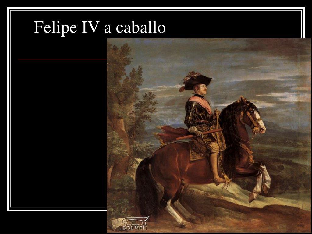 Felipe IV a caballo