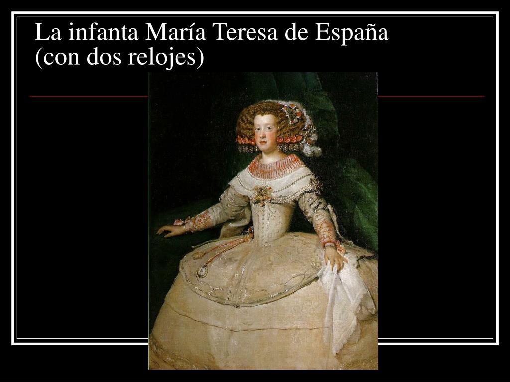 La infanta María Teresa de España