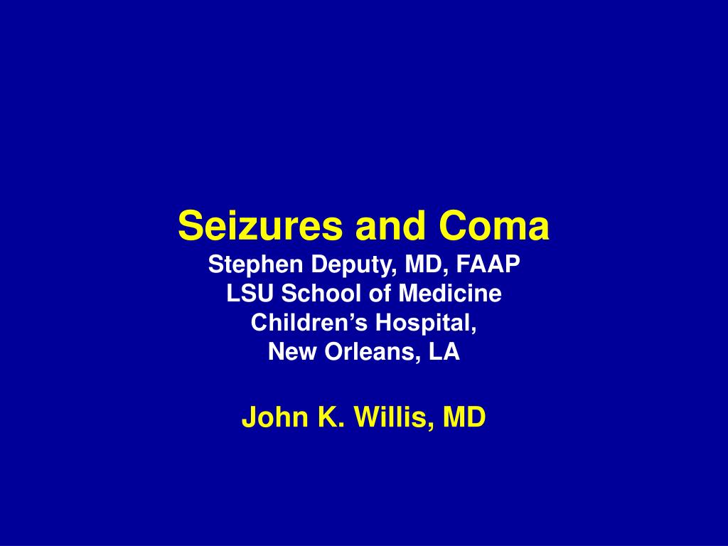 Seizures and