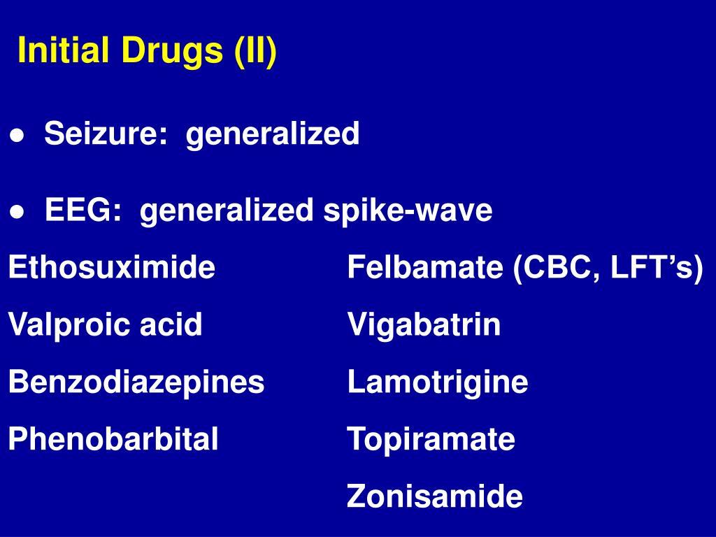 Initial Drugs (II)