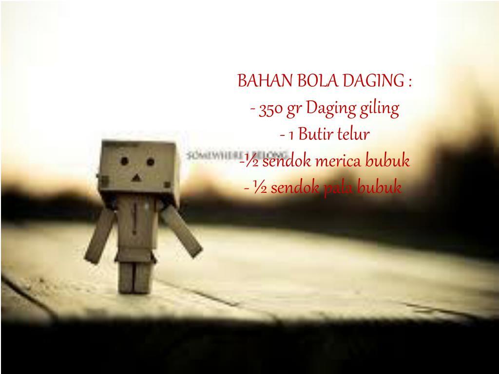 BAHAN BOLA DAGING :